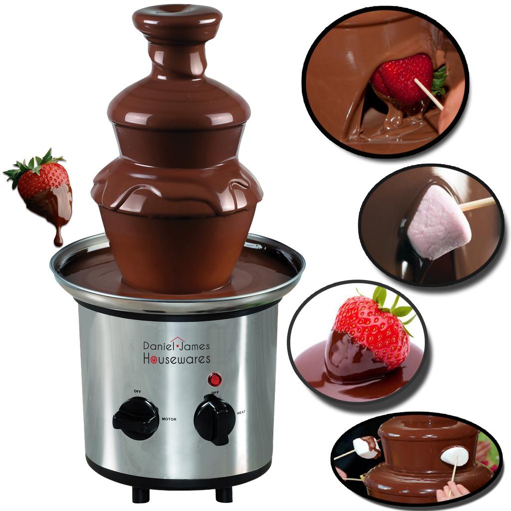 Chocolate Fountain 3 Tier Fondue Set Daniel James Products