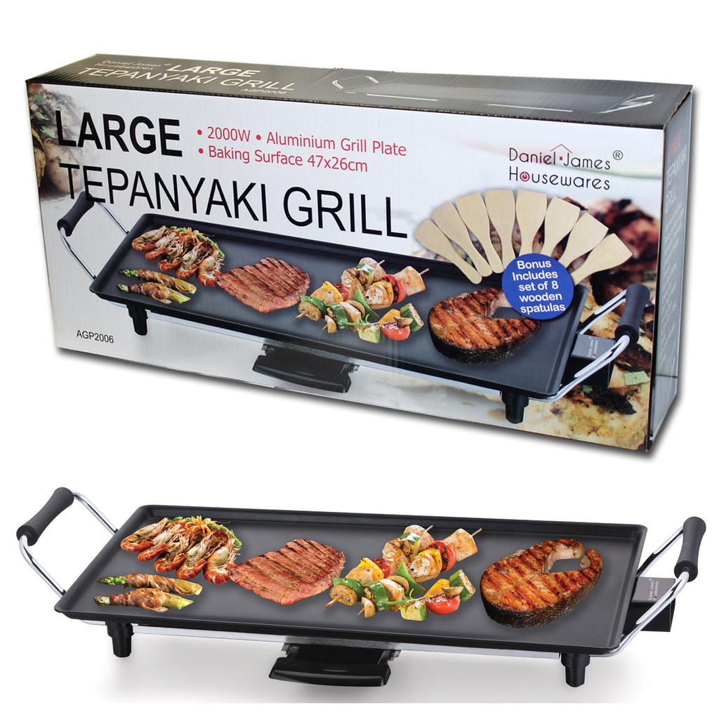 Large Teppanyaki Style Barbecue Table Grill Griddle - Daniel James ...