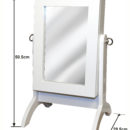 WHITE COUNTERTOP DRESSING MIRROR WITH ARROWS