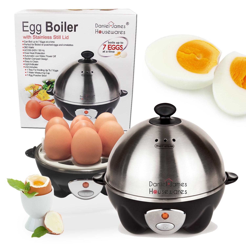 Electric 7 Egg Boiler Amp Cooker Boils Poaches Steams Or