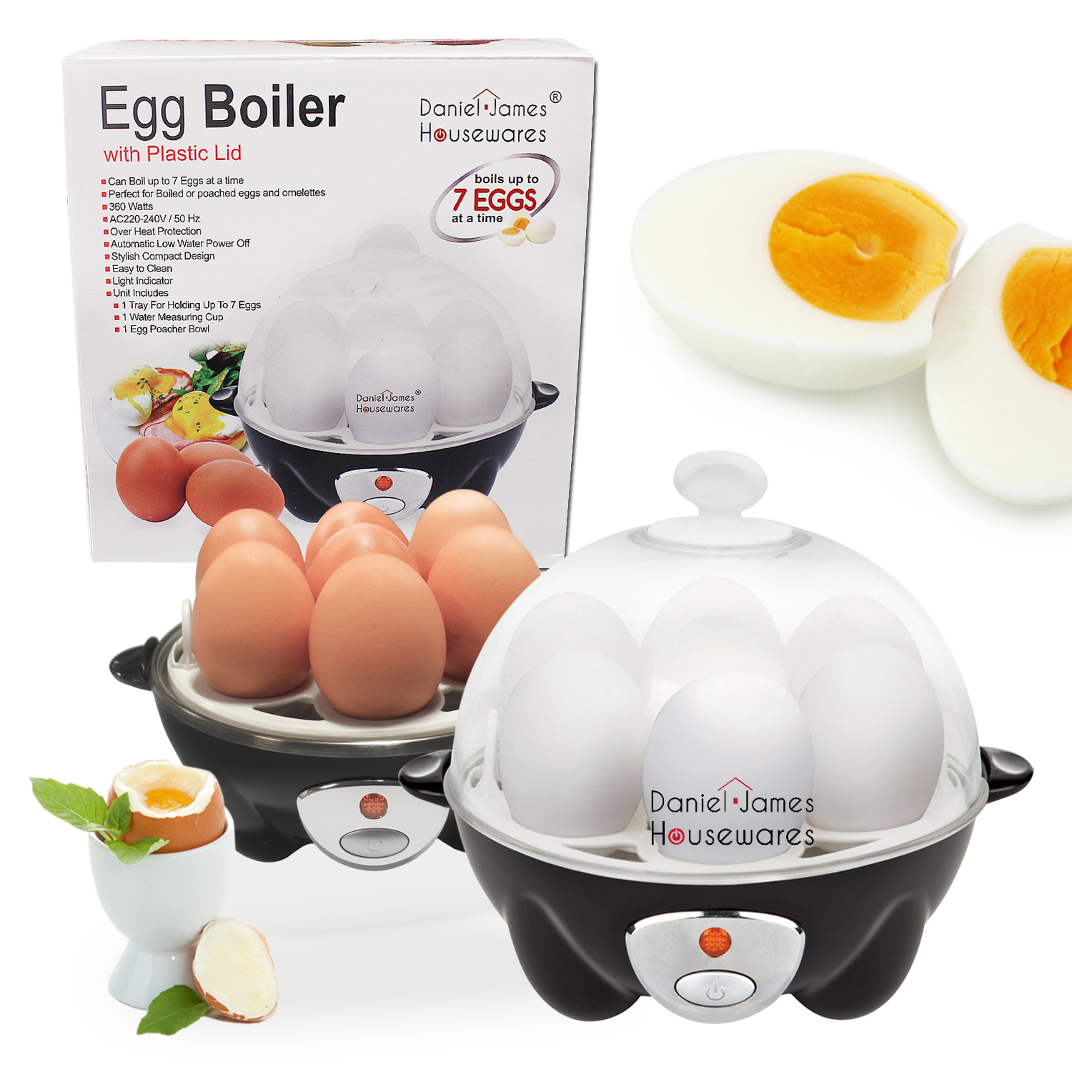 Electric 7 Egg Boiler Amp Cooker Boils Poaches Steams Or
