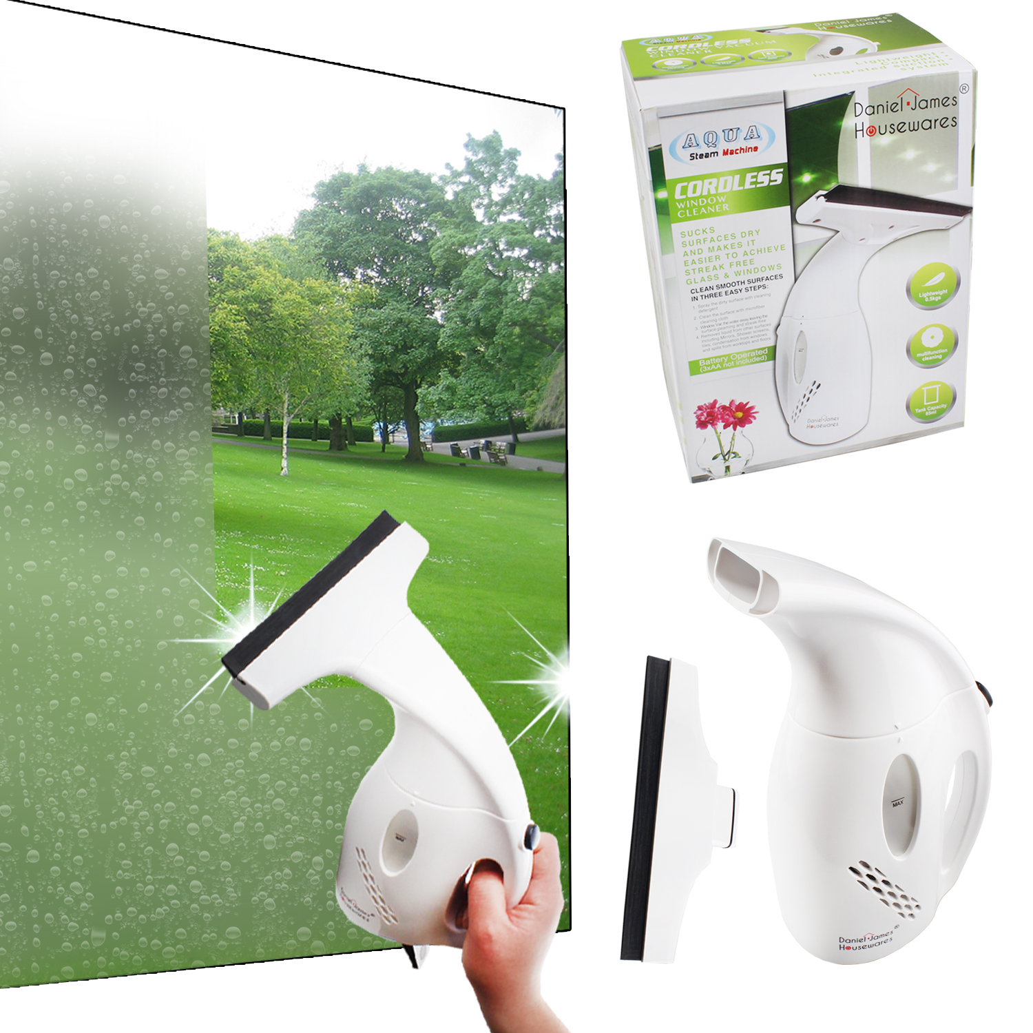 Battery Operated Window Vac Cordless Glass Cleaner