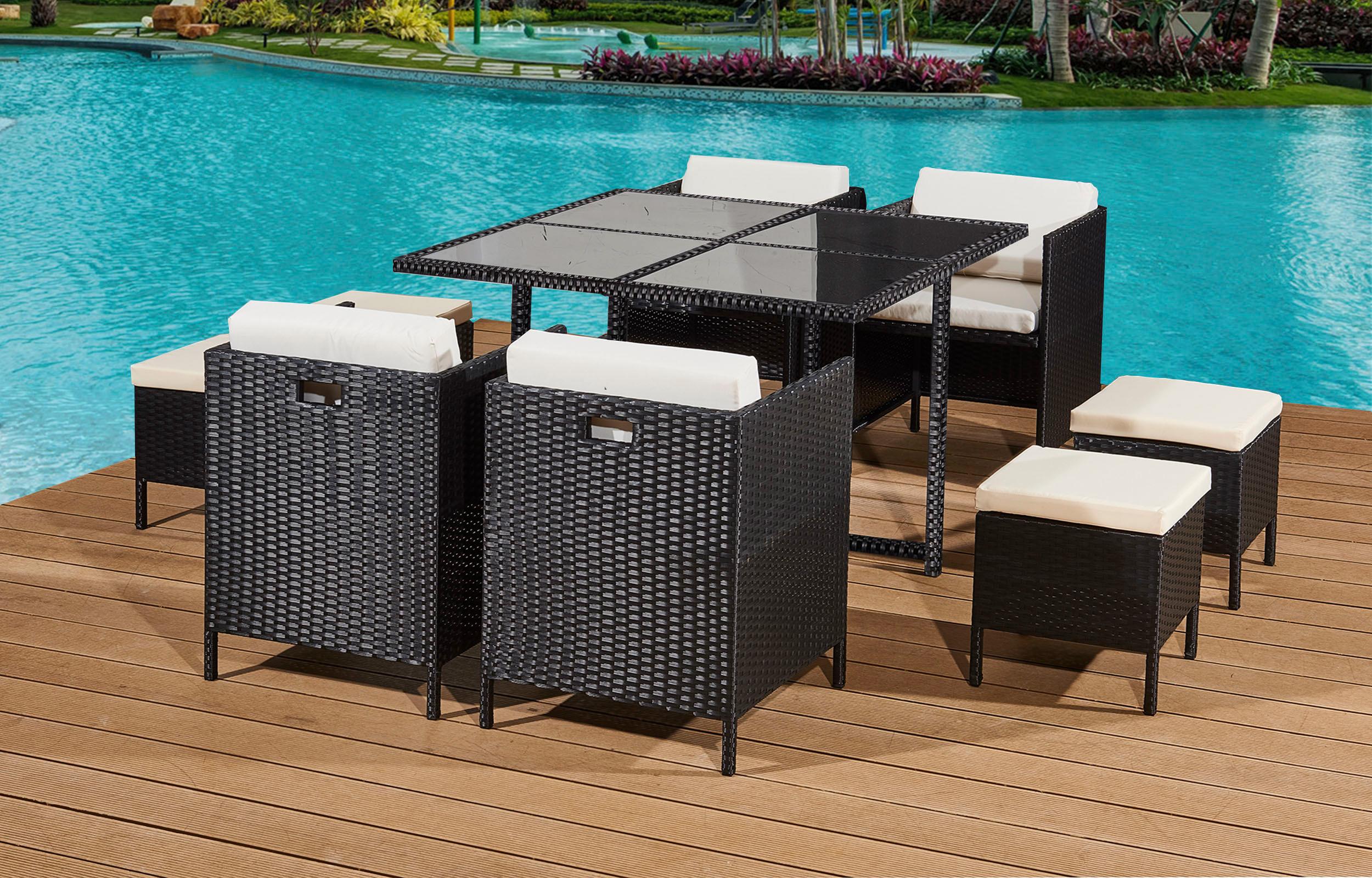 rattan garden furniture patio dining set 8 seat cube daniel james products. Black Bedroom Furniture Sets. Home Design Ideas