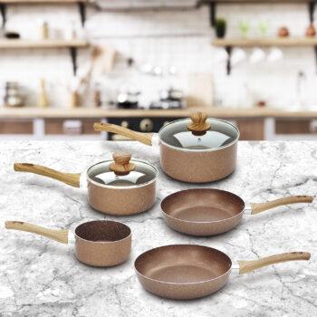 stone rose pan set