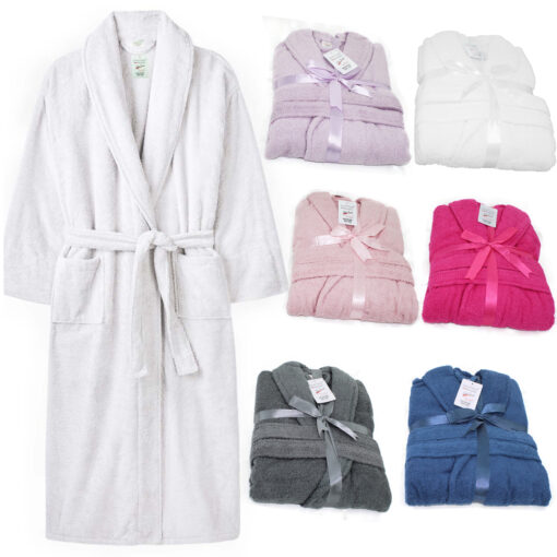 adult terry towelling dressing gown