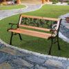rose lattice bench