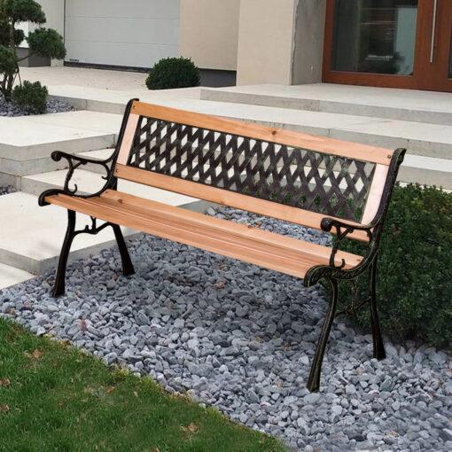 garden bench lattice