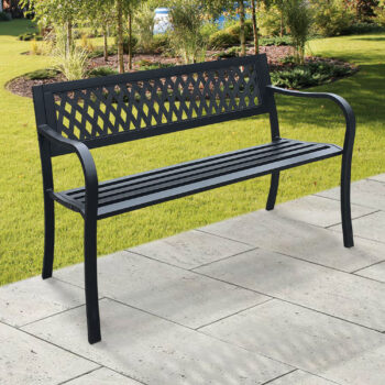 black metal bench