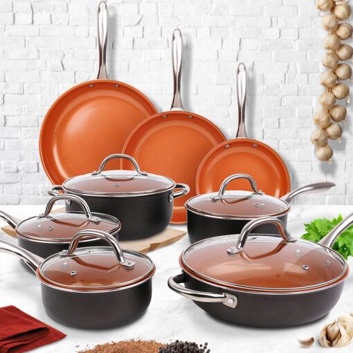 13 piece premium pan set